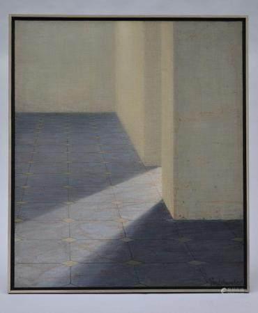 Vandermoeren: painting (o/c) 'interior' (60x70cm)