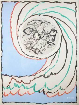 Alechinsky Pierre: litho 'Borealite' (55/90) (70x90cm)