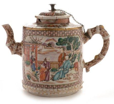 Qianlong Mandarin pattern Wine pot