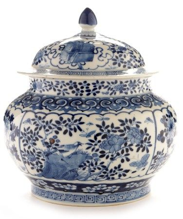 Chinese blue and white jar and cover