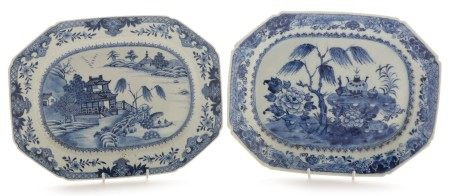 Two Chinese export ware serving dishes, Qianlong