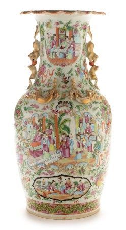 Canton Vase with lamp fitting