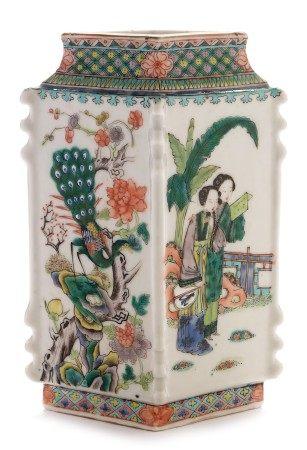 Famille vert vase