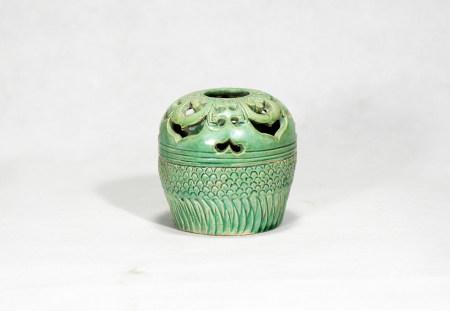 Chinese Green Glazed Incense Burner