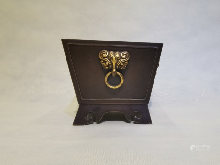 Chinese Gold Gilded Xuande Bronze Stove