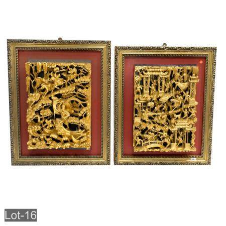 Oriental wall plaques