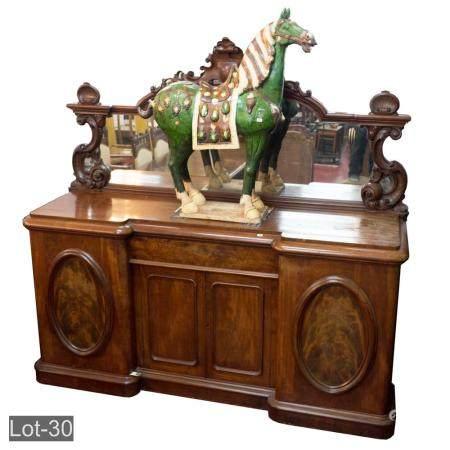Victorian flame mahogany sideboard