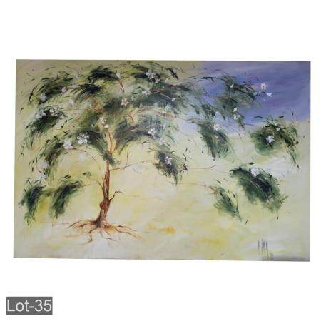Large oil on canvas still life signed King Kennedy