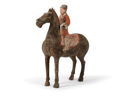 A Horse with Equestrian, China, Han Dynasty