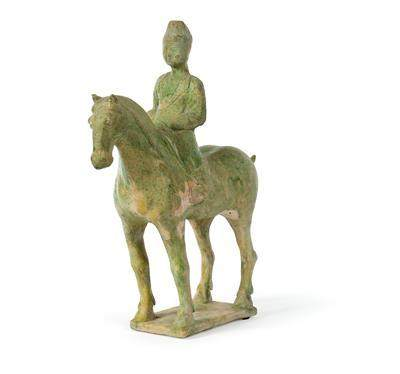 A Horse with Equestrian, China, Tang Dynasty