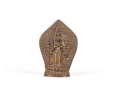 A Relief of Thousand Armed Avalokiteshvara, Tibet 19th Century