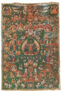 "A Thangka ""The Deities of the Tibetan Book of the Dead"", Tibet, 18th Century"