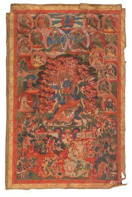 A Thangka of Trowo Tsochog Khagying, Tibet, 19th Century