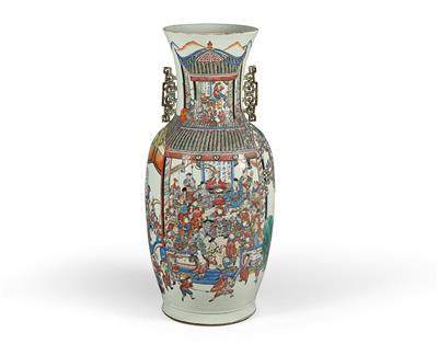 A Large 'Famille Rose' Vase, China, Mid 19th Century