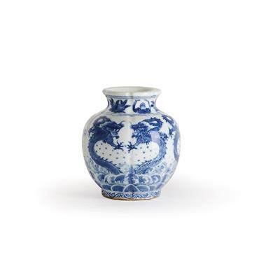 A Blue and White Vase, China, Underglaze Blue Four Character Mark Chenghua in a Double Square,