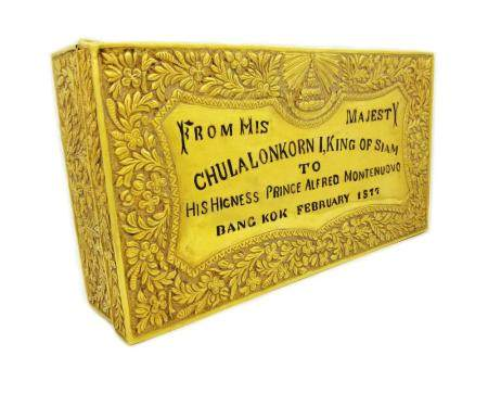 Rare 22K Gold Presentation Box From King of Siam