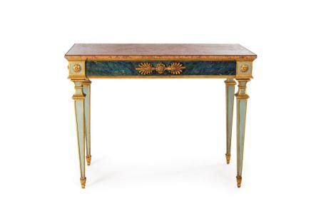 Console in ivory lacquered wood, late 19th century