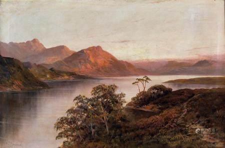 Pittore del XIX secolo River landscape