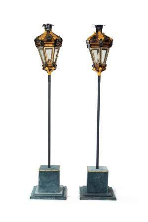 Pair of tolla lanterns, 18th century