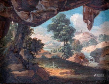 Scuola Italiana del XVII secolo Arcadian landscape