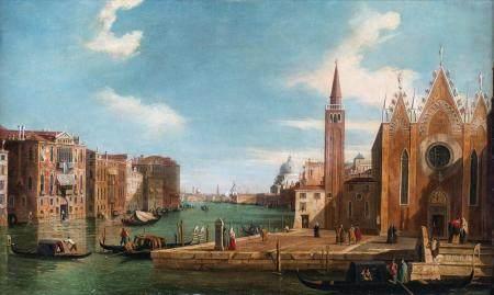 Pittore del XVIII secolo a) View of Venice with the Grand Ca