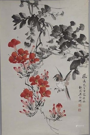 吳野洲 花鳥