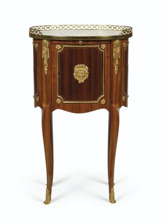 A LOUIS XVI ORMOLU-MOUNTED BOIS SATINE, TULIPWOOD AND AMARANTH OCCASIONAL TABLE