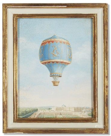 A GROUP OF TWELVE FRENCH VIEWS OF BALOONS IN LANDSCAPES
