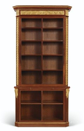 A FRENCH MAHOGANY AND PARCEL-GILT BOOKCASE
