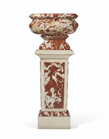 A LOUIS XIV ROUGE LANGUEDOC MARBLE BASIN