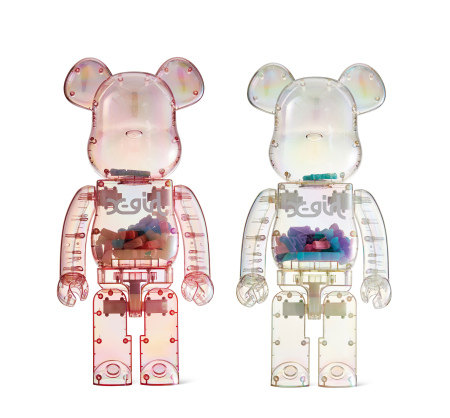 2019年作;2020年作 BE@RBRICK 1000% X-Girl (两件一组) PVC