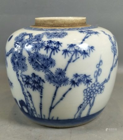 Blue and White Porcelain Vase,19/20th C