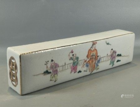 A Chinese Famille Rose Porcelain Paper Weight,19/20th C