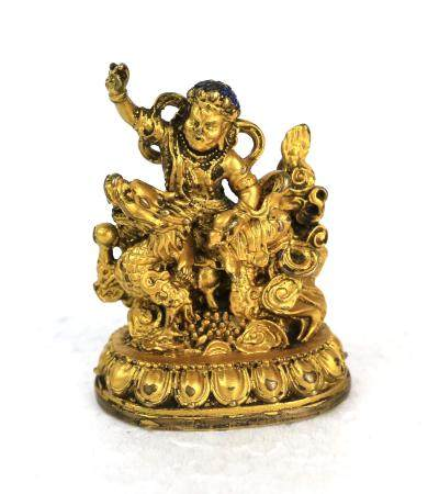 A Chinese Gilt God of Wealth