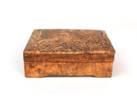 A Chinese Yingmu Wooden Scholoars Box