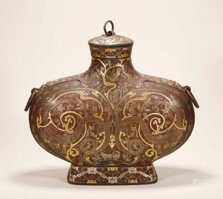 Warring State - Silver and Gold on Bronze Vase