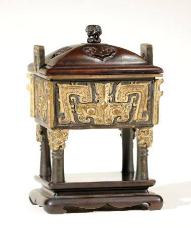 Qing Dynasty - Gilt Beast Pattern Censer