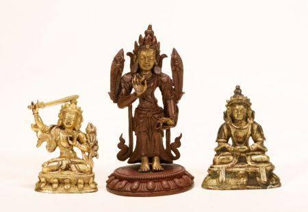 Qing Dynasty - Set of Gilt Buddha Statues
