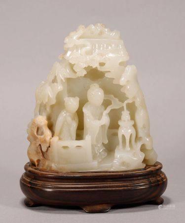 Qing Dynasty - Hetian Jade Figure Decoration