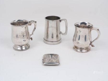 Two silver tankards, both of baluster form and hallmarked Sheffield, one c.1965, Robert Pringle &