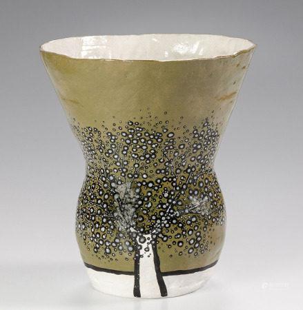 RICHARD SCOTT (SOUTH AFRICAN 1968 - ): 'THE OLIVE TREE' CERAMIC VASE, 2014