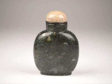 水藻瑪瑙鼻煙壺