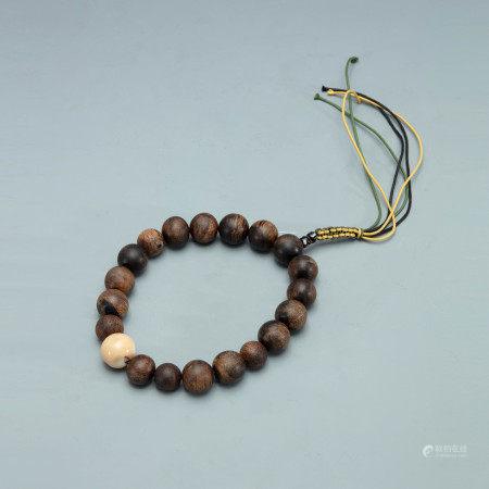 清水沉越南芽庄沉香手串一串 An Agarwood Bracelet Vietnam Nha Trang Qing Dynasty