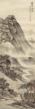 杨石朗 山水