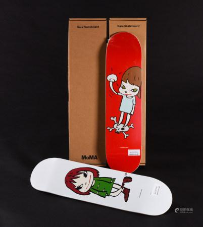 奈良美智 滑板 二件