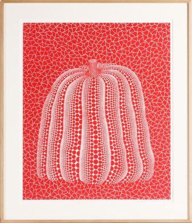 草間彌生 紅色南瓜 版畫