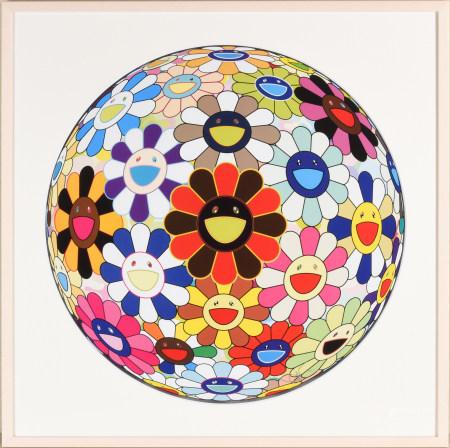 村上隆 花球 (Lots of  colors)版畫