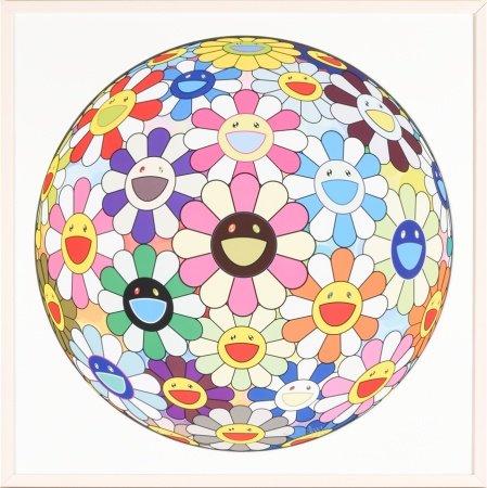 村上隆 花球 3D 小雛菊 版畫