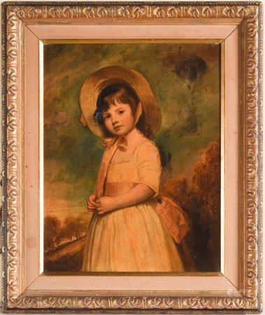 佚名 少女 油畫