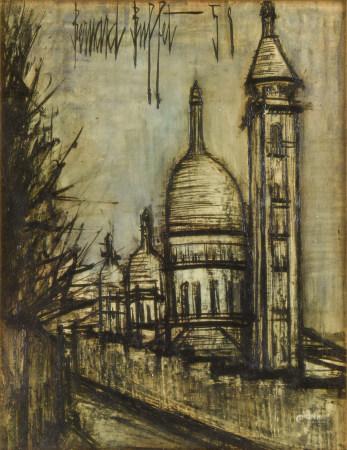 貝爾納.布菲 風景 油畫